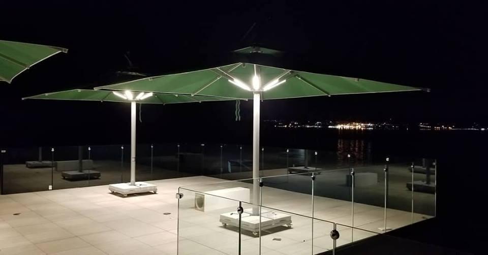 Solaroto Büyük Şemsiye- Isıtıcılı Şemsiye-Cafe Şemsiye-Kare Şemsiye-Teleskopik Şemsiye-Dış Mekan Şemsiye
